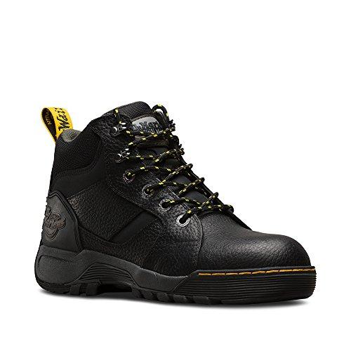 Dr Martens Unisexe Grapple Bottes Bottines Chaussures De Sécurité Cuir À Lacets Noir