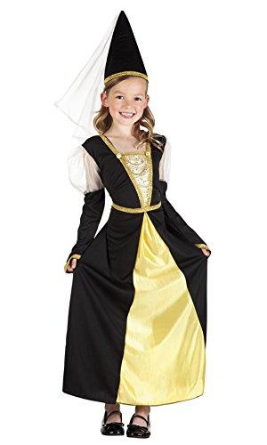 Faschingsfete Mädchen Prinzessinnen Kostüm, Karneval, Fasching, Mehrfarbig, Größe 140-152, 10-12 Jahre