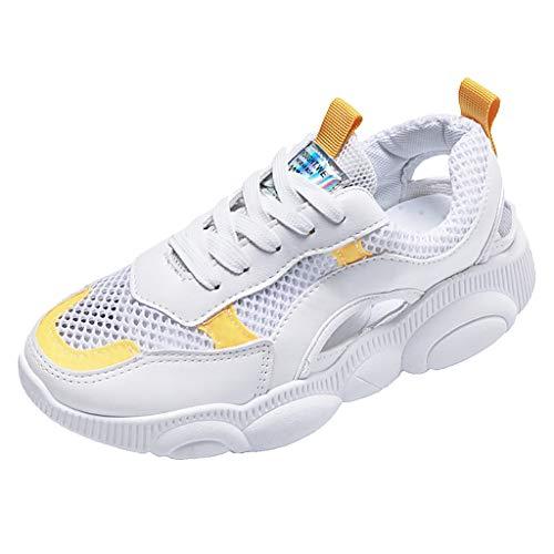 LILIGOD Frauen Freizeit Atmungsaktives Sneakers Mesh Aushöhlen Fitness Laufen Sport Turnschuhe Schuhe Dicker Boden Bequem rutschfest Laufschuhe Mode Lässig Alte Schuhe Sportschuhe -