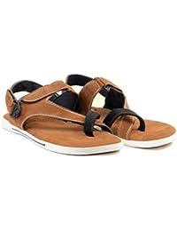 MAKERZ Tan Synthetic Sandals - B07467KHYC
