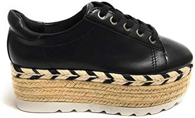 Guess Scarpe scarpe da da da ginnastica Fondo Zeppa in Corda MOD. Gracen Ecopelle Nero nero Donna DS19GU66 | Numerosi In Varietà  e29f14
