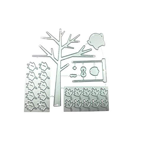 -Baum-Blatt-Form-Schneideisen-Metall Stencil Schablone für DIY-Album Halloween Weihnachten Thanksgiving-Dekoration-Geschenk ()