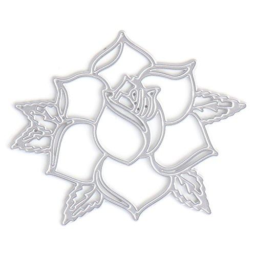 logres Blume Metall Formen Schablone Scrapbook Papier Karte Prägung DIY Craft Geschenk (Scrapbook Prägung Silber)