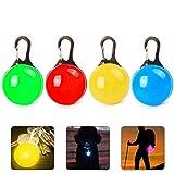 Womdee Hundehalsband, LED-Licht, wasserfest, LED-Halsband, Sicherheitshalsbeleuchtung mit Edelstahl-Karabiner, 3 Beleuchtungsmodi, inklusive Batterien, 3 Stück