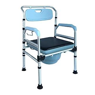 41ue6XsO6EL. SS324  - hengmei silla fahrbarer inodoro silla ducha silla Noche silla sobre ruedas de ruedas 360°C Rotación con freno de estacionamiento