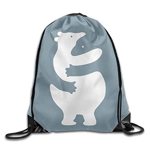 JIEKEIO Drawstring Backpack Rucksack Shoulder Bags Bears Huggers Drawstring Backpack Rucksack Shoulder Bags Training Gym Sack for Man and Women -