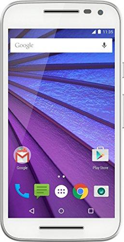 Motorola Moto G 3a Generazione Smartphone, Display 5 Pollici, Memoria 8 GB, 1 GB RAM, 4G/LTE, Fotocamera 13 MP, Bianco [Francia]
