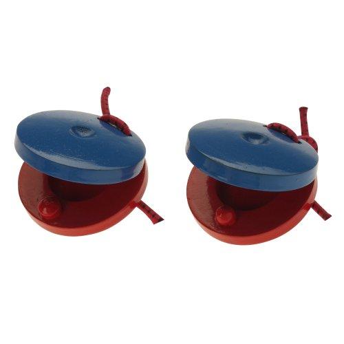 Stagg CAS-P - castañuela de plástico color azul rojo