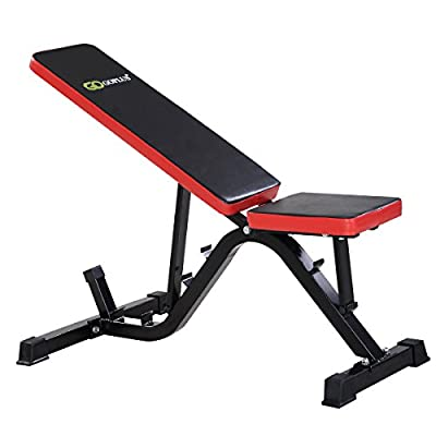 Incline Weight Bench Adjustable Sit Up Flat/Decline Gym Bench from GYMAX