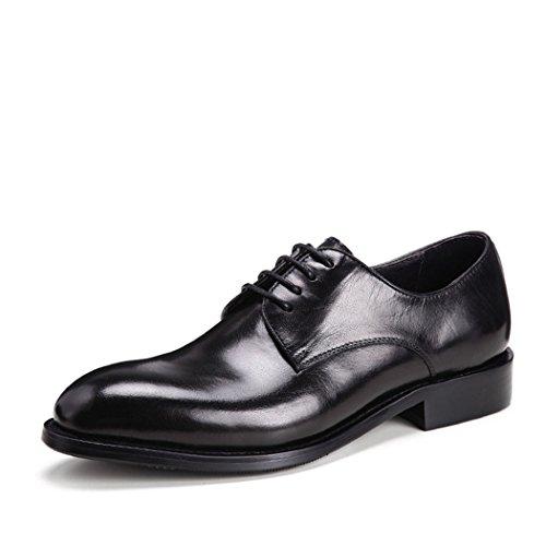 HHY-Business in pelle tute di primo strato di pelle Mens scarpe di cuoio black