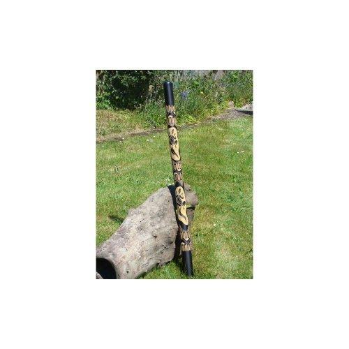 Fairtrade Geschnitzte Bambus Didgeridoo 120 cm