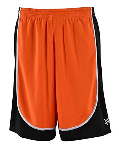 k1x k1x hardwood league uniform shorts mk2 orange/schwarz/weiss