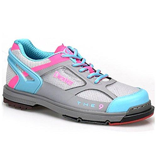 Dexter Damen SST The 9 Bowlingschuhe, 41 1/2, Grau/Blau/Rosa, 7,5 cm - Dexter Schuhe Frauen
