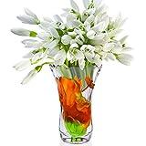 C&S Kristallglas-Vase Lotus Leaf Dragonfly Chinesischen Muster Vase Haushalt Vase Ornament Wasser Kultur Pflanze Container