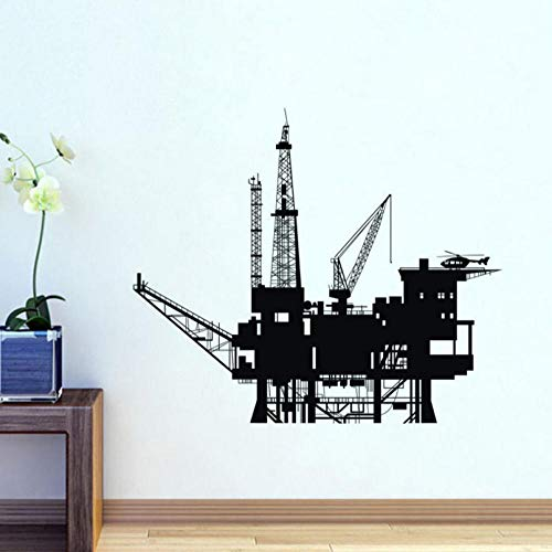 Qzheng Bohrinsel Transport Wandaufkleber Dekorative Vinyl Wandkunst Aufkleber Wohnkultur Wandtattoo 59 * 69 Cm