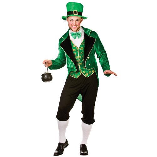 Kostüm Kobold Das Tragen - Deluxe Leprechaun - Adult Costume Man: L (Chest: 44