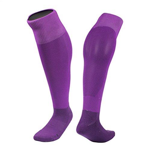 GEEAUASSD Knie High Fußball Socken Leichtes schnelles Trocknen Komfortable Sport Strumpf Sweat Leicht Schlauch(lila) Grip-socken Von Under Armour