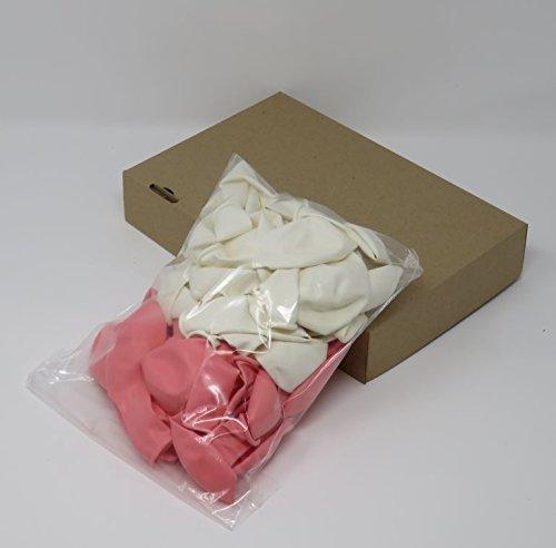 Luftballons | rosa, weiß, 50 Stück - 3