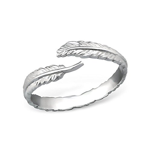 Stering Silver Open Leaf Ring