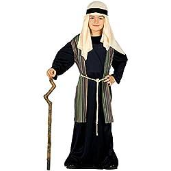 Guirca - Disfraz infantil de San José pastor, 5-6 años, color negro (42492.0)