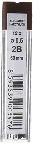KOH-I-NOOR - Mine in grafite diametro: 0.5mm, per matita 2B 60 mm