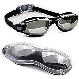 lunaoo Schwimmbrille Herren Damen, Taucherbrille Erwachsene Swimming Goggles mit Anti Beschlag und UV Schutz
