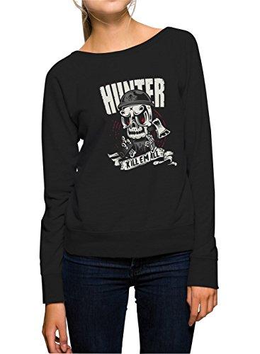 Certified Freak Hunter Killer Sweater Girls Black M
