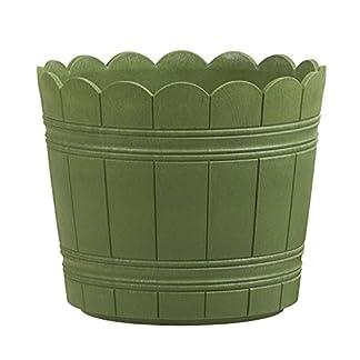 Emsa Country Planter – Plantadora resistente a los rayos UV, resistente a heladas, Verde, 24 x 20 cm