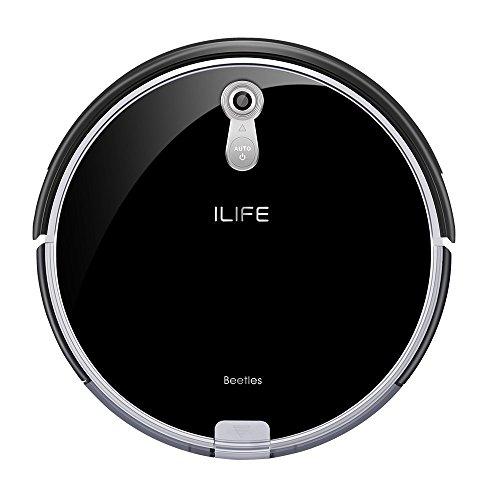 ILIFE 501739-IL A8 Aspirador con cámara de navegación Inteligente, Asistencia por i-Voice, horario semanal, Robot de Limpieza de Pisos, Plástico