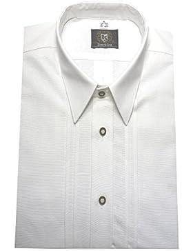 Trachten Hemd weiß ORBIS-0051 bequemer weiter Schnitt Größe M bis 5XL