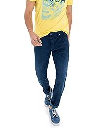 Salsa - Pantalons bleu intense en jean léger avec usures - Lima - Homme
