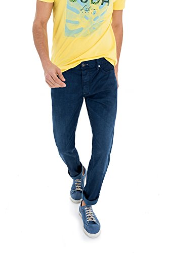 Salsa - Deep blue worn lightweight trousers - Lima - Herren Bleu