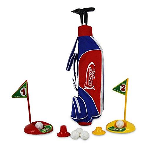 HC-Handel 916240 Golfset mit Tasche 3 Schläger Golfbälle Golf Set Minigolf Golfspiel Spiel 84 x 30 cm -
