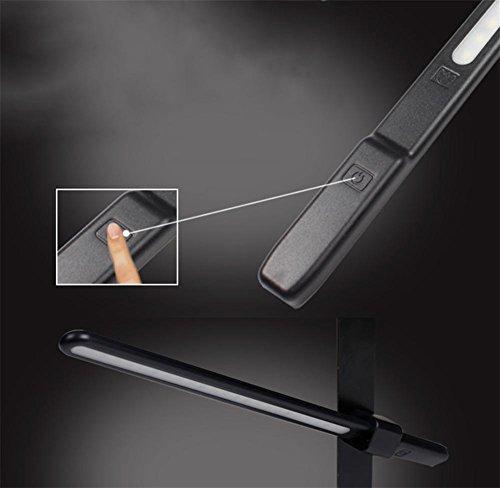 GNOONEQ Nachtlicht Kreative Intelligente Verstellbares Usb-Ladevorgang Bücherregal Licht , Black