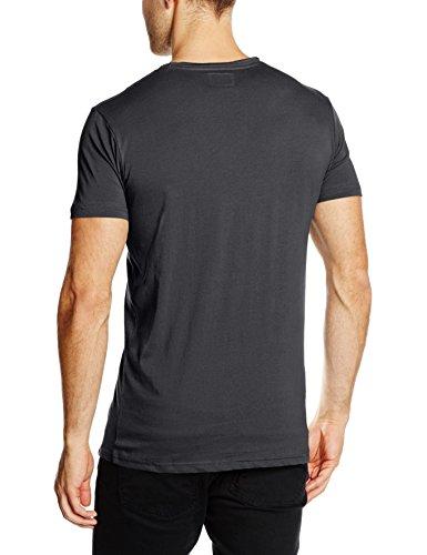 Shine Original Herren T-Shirt Dyed & Washed Out Tee S Schwarz (Black)