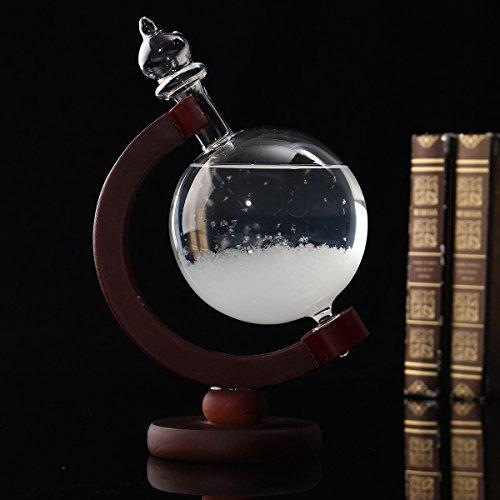 Aissimio Flasche zur kreativen Wettervorhersage mit Kristall, kugelförmig aus Glas, Dekoration, kreative Darstellung von Meteorologie, als Geschenk, zu Weihnachten