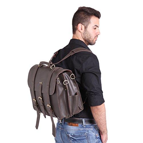 916459b367 ... Leathario sac a main en cuir sac a dos sac messager cuir sac  bandouliere cuir homme