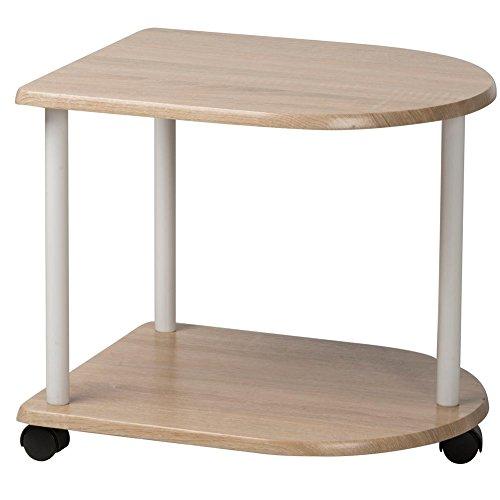 Bakaji revistero mesa sala d espera Trolley mesilla 48x 40x 42cm, con ruedas (madera DM y metal