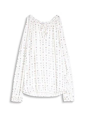 edc by ESPRIT Damen Bluse Mehrfarbig (Off White 110)