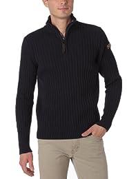 Schott Herren Sweaters  PLRAGE2, Stehkragen ,Uni