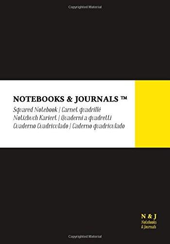 Quaderni Notebooks & Journals, Extra Large, a Quadretti, Nero, Soft Cover: (17.78 x 25.4 cm)(Taccuino appunti,Taccuino di viaggio)