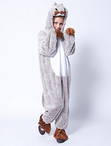 Deiters Overall Plüsch Eichhörnchen grau Kinder (Gr. 140) 140 (Kind Eichhörnchen Kostüm)