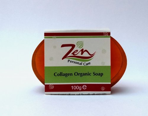 Zen Personal Care Collagen Organic Soap Handmade 100gms x 2 bars Delays the effects of ageing with daily use