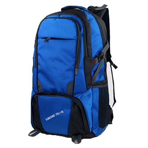 Outdoor zaino sport, grande sacchetto di alpinismo capienza, borsa a tracolla impermeabile, la corsa esterna zaino, viaggi di piacere zaino 80L, sacchetto dell'allievo, borsa del computer, il sacchett light blue