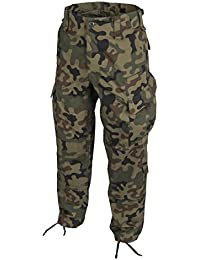 Helikon Öko-Tex CPU Pantalones Combat Patrol Uniforme Ripstop PL Woodland, L/Largo