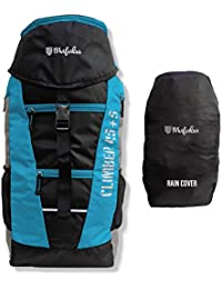 Mufubu Presents Climber 45 + 5 LTR Rucksack for Hiking, Trekking Travel Backpack with Rain Cover