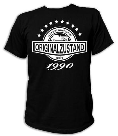 Artdiktat T-Shirt Unrestaurierter Originalzustand seit 1990 Unisex, Größe XL, schwarz (1990 Verein)