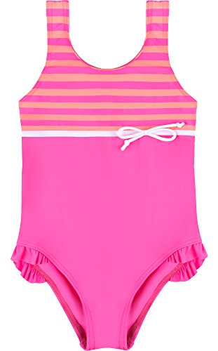 Merry Style Mädchen Badeanzug MSVRKind2 (Rosa/Lachs, 104) -