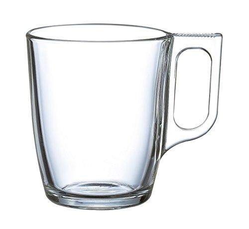Luminarc, Set da 6 Tazze in vetro, 25 cl, Bianco (weiß)