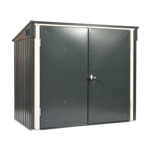 Tepro Mülltonnenbox, anthrazit / weiß, 154.2 x 96 x 130.5 cm - 7